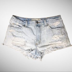Abercrombie & Fitch High Rise Denim Shorts